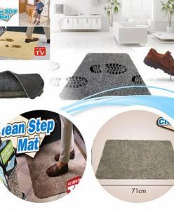 Супервпитывающий придверный коврик Clean Step Mat, серый