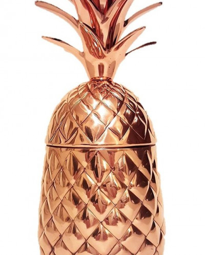 Zafos Pure Copper Pineapple Mugs - 20 oz Capacity ,100% Pure