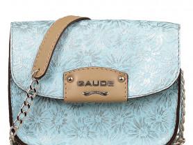 Новая кожаная сумка кроссбоди Италия голубая