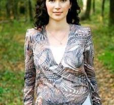 Блуза для беременных двойная на запах р.М(46) нов
