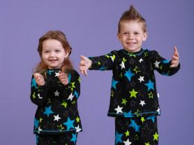 Натуральная пижама на мальчика и на девочку звезды