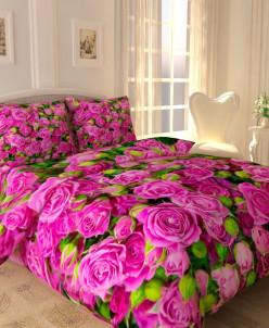 КПБ Кустик с яркими розами (евро)