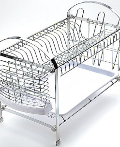 4003 Подставка/сушка д/посуды 2х ярус.(х6)