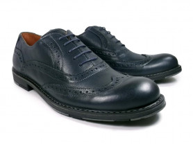 Туфли мужские темно-синего цвета