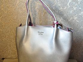 Новая сумка из сафьяновой кожи Италия серебро