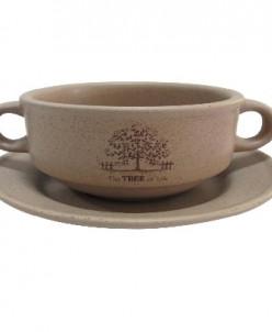 Суповая чашка на блюдце Дерево жизни