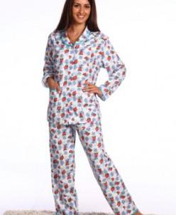 Пижама женская фланелевая