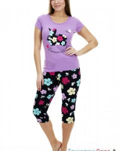 Пижама женская Ушастик (бриджи и футболка)