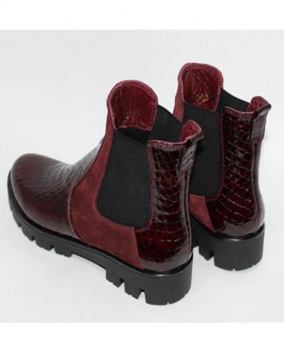 Ботинки Челси (кожа рептилия/замша).