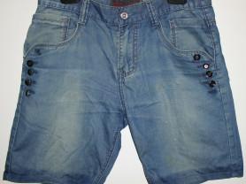 Шорты джинсовые голубые B.S.J. Jeans р.32 (48-52)