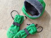 Didriksons шапка +перчатки б/у, 5-7лет