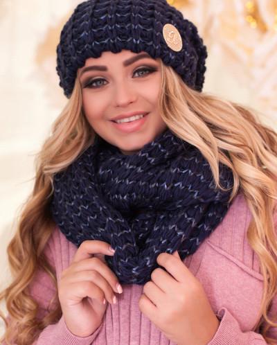 Комплект «Космея» (шапка и шарф-снуд) 4619-8