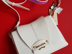Новая белая лакированная сумка GaudeMilano кожа