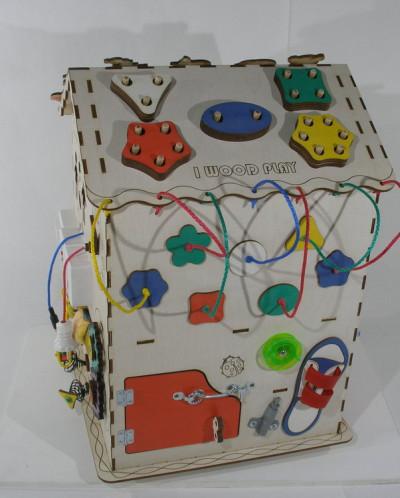 Развивающий домик большой с электрикой (блоком светоиндикаци