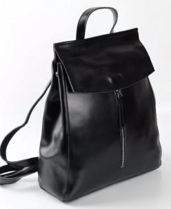 Женский кожаный рюкзак 1724 Черный
