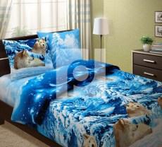 КПБ 1,5 спальный из бязи Стандарт Волки