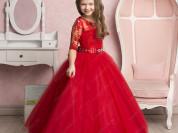НОВОЕ Бальное платье  красное размер34