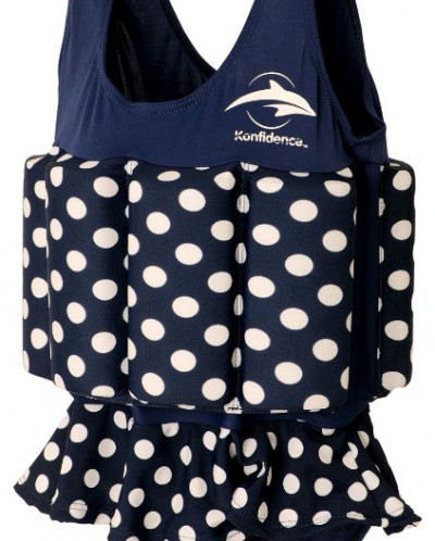 Konfidence Floatsuit, Navy Polka Dot, 2-3 Years
