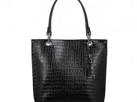Новая черная кожаная сумка Gaude Италия
