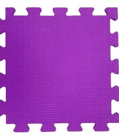 Мягкий пол 33*33*0,9 см фиолетовый, 9 деталей