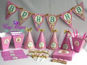 Набор для декора дня рождения в стиле Зайка Ми.