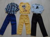 Фирм.джинсы брюки рубашки лонги на 5-8, лонг в дар
