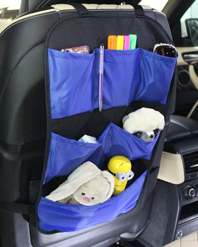 Защита для спинки сидения-оргонайзер для авто, с 6 карманами