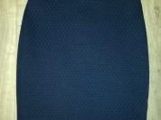 Юбка - карандаш р. 42-44, цвет тёмно-синий, одета