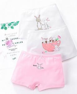 """Трусики-боксеры для девочек Paiclitu """"Rabbit"""" 3 шт."""