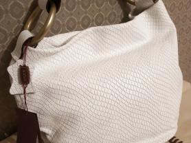 Новая белая сумка Gaude натуральная кожа