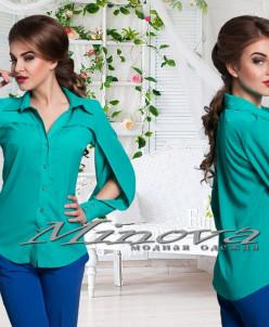 Артикул:Блуза №4019-бирюза
