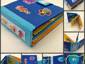 Море – маленькая развивающая книжка из фетра.