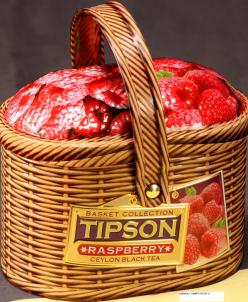 Чай Типсон Лукошко-Малина/Basket-Raspberry 80 г ж/б