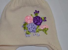Зимняя двойная шапка из итальянского мериноса 4-5