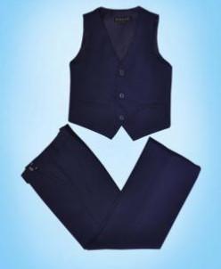 116  - 128 Комплект д/м брюки и жилет СИНИЙ