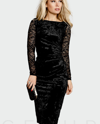 Вечернее бархатное платье