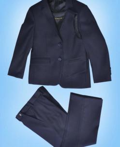 122 - 152 СЛИМ 2в1 д/м пиджак , брюки ,темно- СИНИЙ