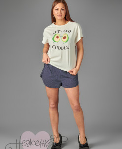 Женская пижама ЖП 015/1 (молочный+крапинка)