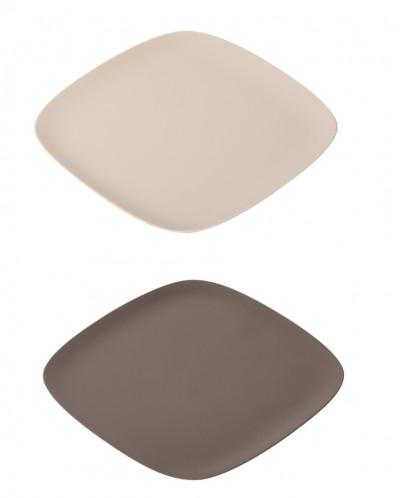 поднос для закусок к-т 2шт (цв.серый)  TAULA