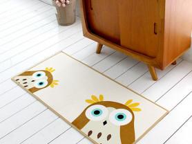 Коричневый коврик с рисунком совенка Owl 50 х 110
