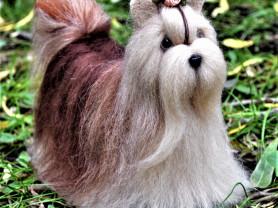 Собака Ши-тцу игрука интерьерная ручная работа