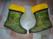 Сапожки резиновые силиконовые мягкие 15,7см валено