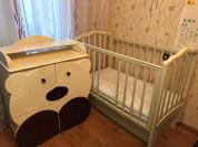 Комплект комод Мишарик и кроватка Жасмин