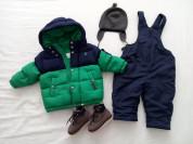 Зимний пуховик Ralph Lauren+полукомбез+шапка