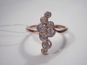 Кольцо серебряное с позолотой