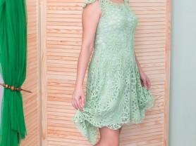 Платье женское летнее вязаное крючком