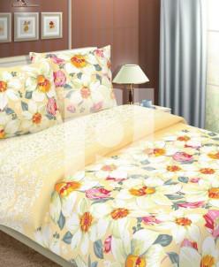 КПБ 1,5 спальный из бязи Стандарт Нарциссы