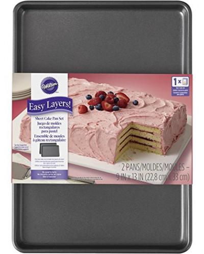 Wilton 2105-5747 2 Piece Easy Layers Sheet Cake Pan Set