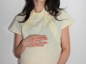 """Блуза для беременных и кормящих мам """" желтая"""" нова"""