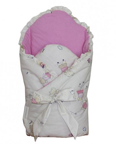 Конверт-одеяло на выписку Bell Bimbo розовый (Беларусь)
